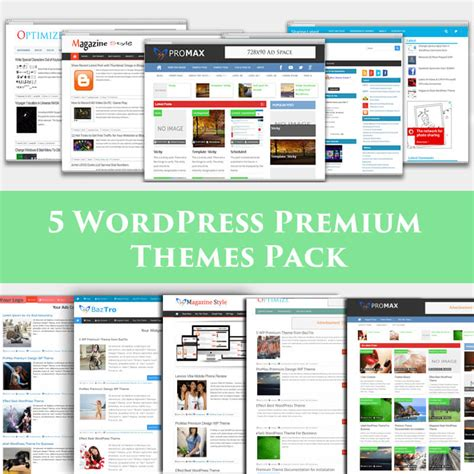 themes wordpress español premium 5 premium wp theme pack wordpress theme store insertcart