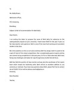 student recommendation letter template sle college recommendation letter 7 documents in pdf