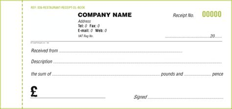 6 template receipt book welder resume