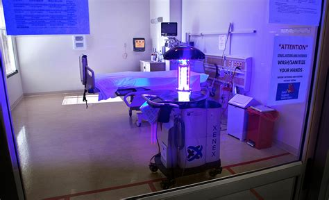 uv light in hospitals these intelligent robots would use ultraviolet light to