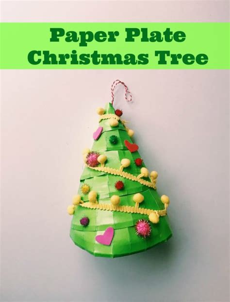 christmas love family crafts easy craft will paper plate tree family focus
