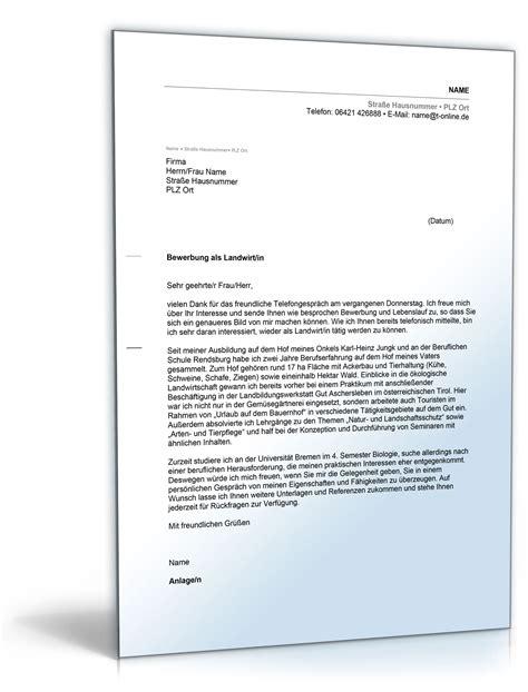 Bewerbungbchreiben Muster Zimmermann Anschreiben Bewerbung Landwirt Landwirtin De Bewerbung