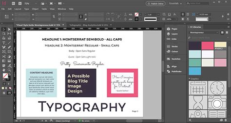 style guide template indesign for your blog momtepreneur