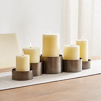 Centerpiece Pillar Candle Holder by Candle Holders Votive Pillar And Lantern Crate And Barrel