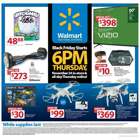 black friday prices at walmart walmart unveils black friday 2016 plans ftm