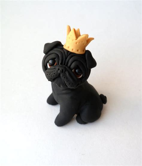 how to pug clay royal black pug sculpture polymer clay mini by raquel at