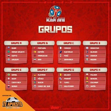 Calendario De Colombia Mundial Rusia 2018 Calendario Y Fixture Mundial Rusia 2018 Conoce Las