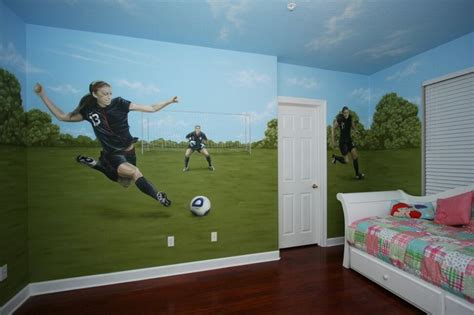soccer themed bedroom natalies dream room pinterest