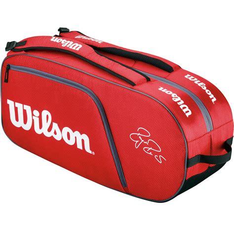 wilson federer team 6 pack tennis bag white