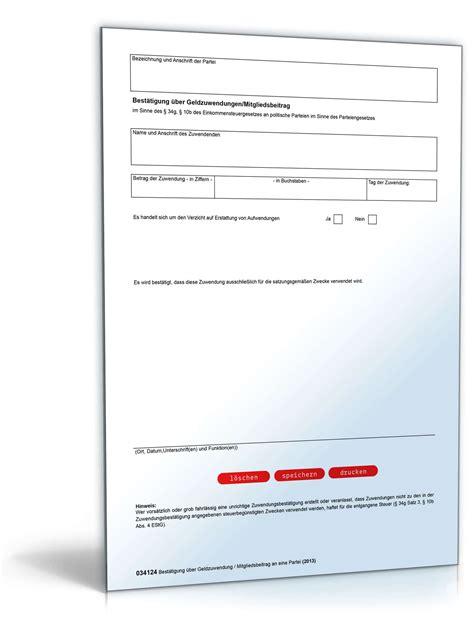 spendenbescheinigung formular zum