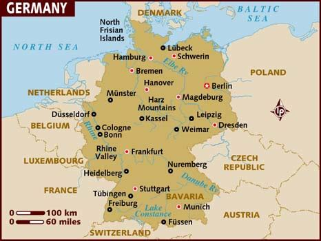map of the germany map of germany