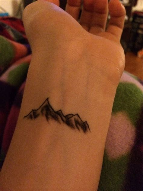 nature wrist tattoos mountain wrist is thinking about getting