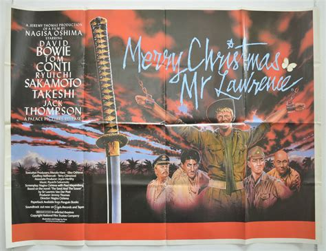 merry christmas  lawrence original cinema  poster  pastposterscom british quad