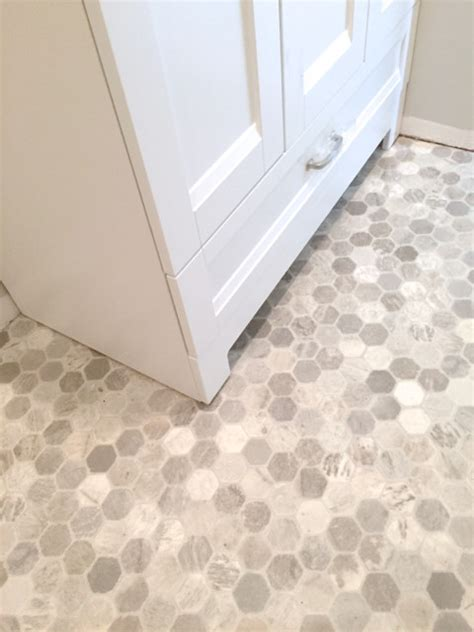 vinyl tiles for bathroom getting a hex tile look with vinyl flooring ideas