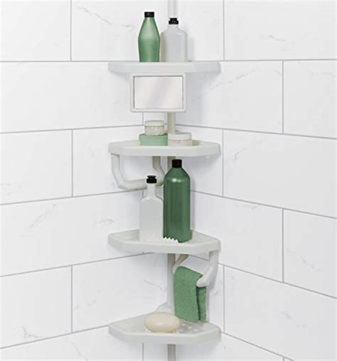 zenith e2132hb tub and shower tension pole caddy oil zpc 5104w mirror tub shower tension pole caddy white