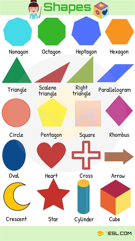 figuras geometricas en ingles y su pronunciacion shapes and colors vocabulary learn english with pictures