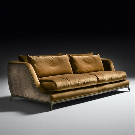 contemporary designer velvet sofa
