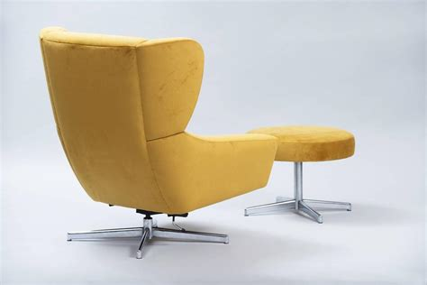 swivel chairs with ottoman danish swivel chair with ottoman at 1stdibs