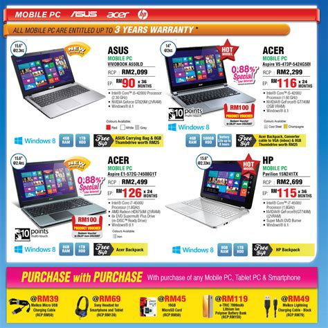 Asus Brand Laptop Price In Malaysia senheng smartphones digital cameras notebooks other offers 1 may 2014