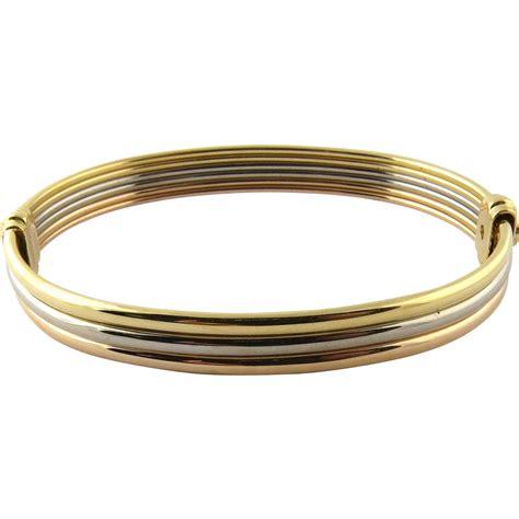 tri color gold bracelet vintage cartier 18k tri color gold bangle bracelet with