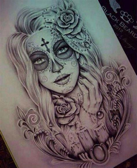 sugar skull tattoo designs tumblr day of the dead drawing great design the