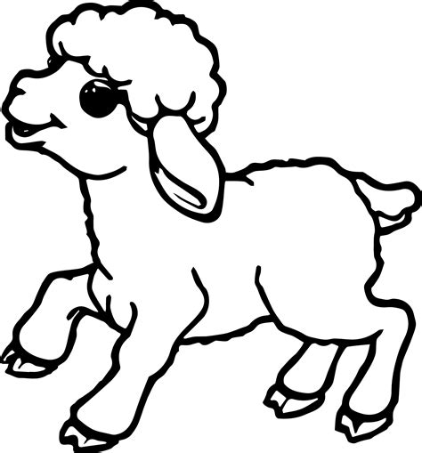 Sheep Outline Coloring Page Coloring Home Colouring Pages Sheep