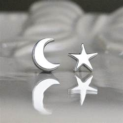 moon earrings silver and moon stud earrings by tales from the earth notonthehighstreet