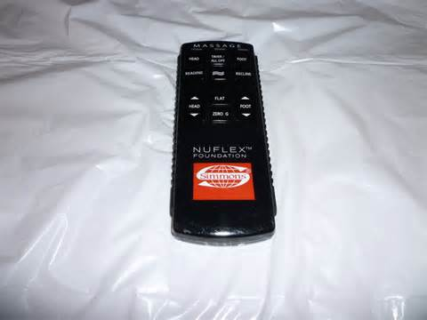 simmons adjustable bed simmons nuflex adjustable bed remote control ebay