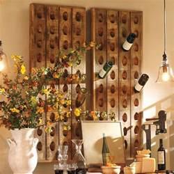 pottery barn wall wine rack wine bottle riddling rack the green