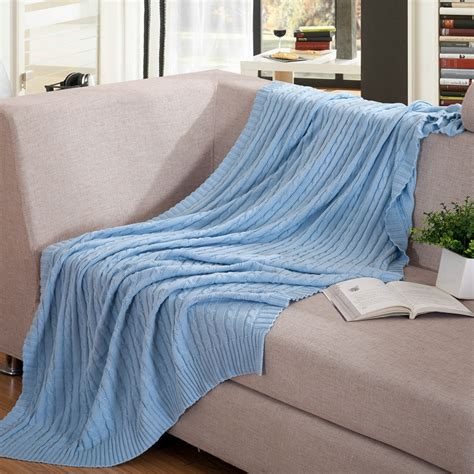 Blanket For Sofa by 110x180cm 100 Cotton Knitted Blanket Brand Soft Sofa