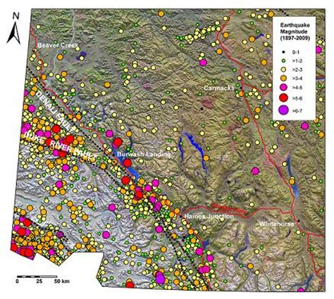 earthquake yukon earthquakes energy mines and resources government of