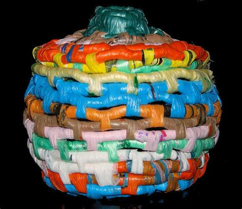 recycling of waste material handmade crafts ideas reuse ideas for plastic bags recycled