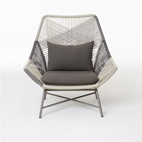 large outdoor lounge chair huron large lounge chair cushion gray west elm