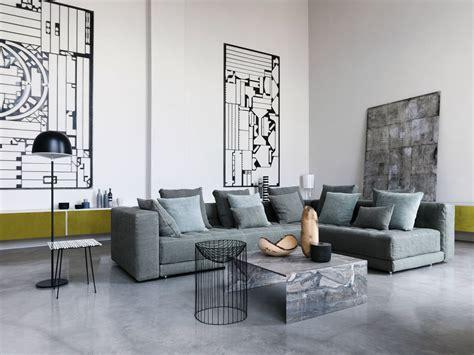 poltrone e sofa messina sectional fabric sofa doze collection by flou design