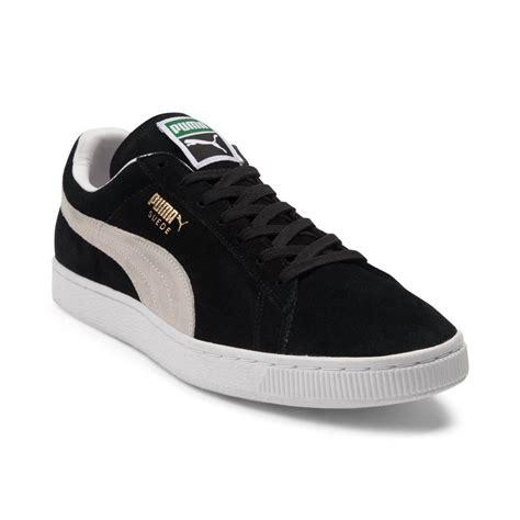 pumas shoes mens suede athletic shoe black 361558