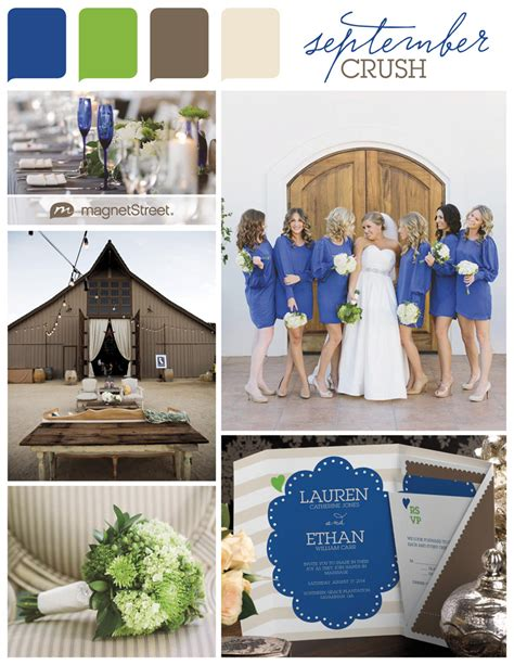 september wedding colors color monday a cool september weddingcolor monday a cool