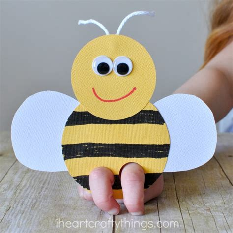 bee finger puppet template incredibly bee finger puppets craft i crafty