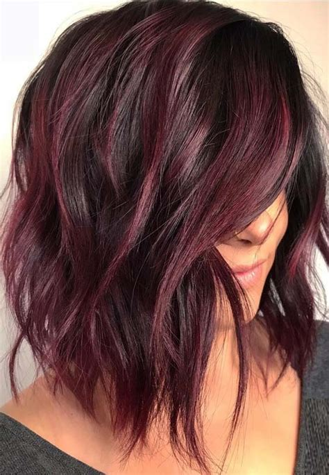 color 12 and black hair wea 48 favorite hair color ideas for lob styles in 2018