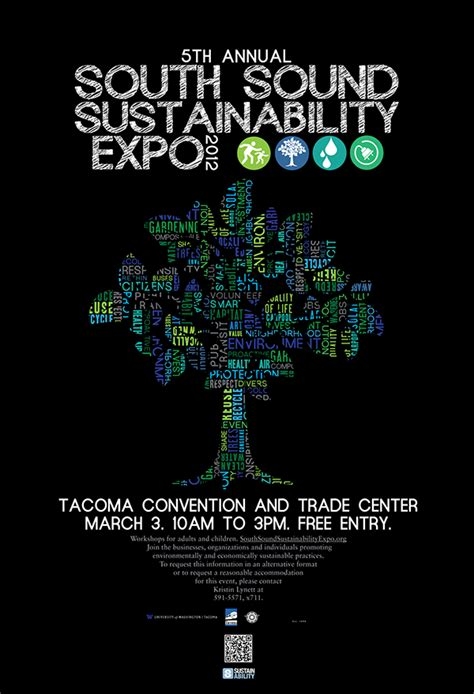 poster design nature south sound sustainability expo on behance