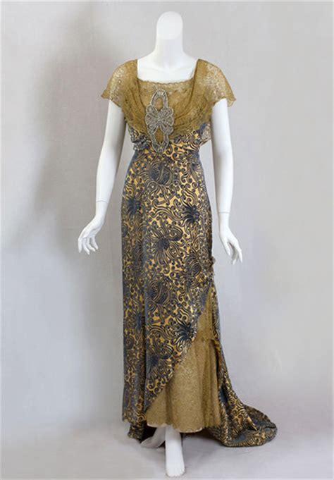winter vintage edwardian evening dress
