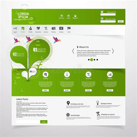 Fresh Clean Website Template Eco Theme Royalty Free Stock Photography Image 36312417 Copyright Free Website Templates