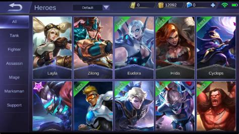 mobile legend heroes mobile legends all heroes as of 2018