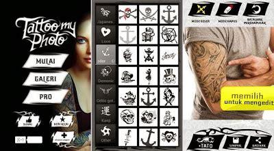tato keren mudah di buat edit foto cara membuat tato keren dengan android