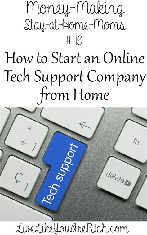 how to start an tech support company from home