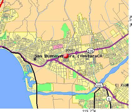 ventura california zip code map 93003 zip code san buenaventura ventura california