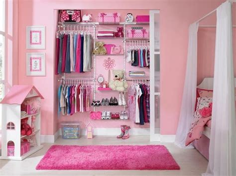 girls bedroom wardrobe pink girl closet ideas
