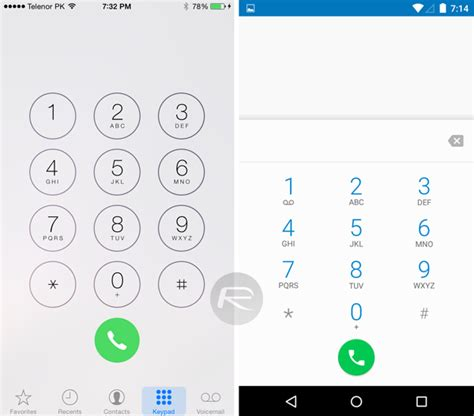 phone dialer for android apple ios 8 1 vs android 5 0 lollipop visual comparison screenshots redmond pie