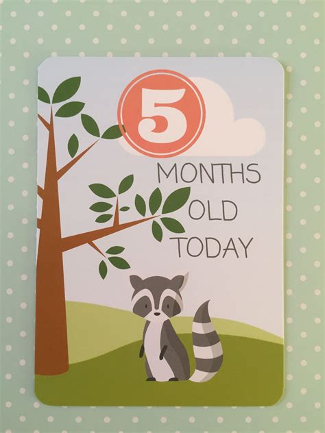 baby milestone card template 5 months baby milestone cards www