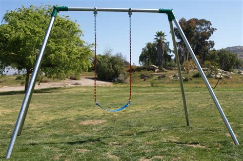 a swing outdoor play equipment set playset metal swing frames