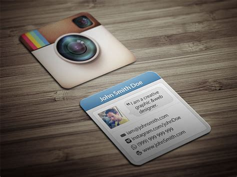 instagram card template square instagram business cards gallery card design and